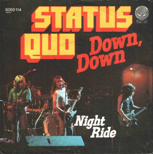 deutsches Cover der Status Quo Single 'Down Down'