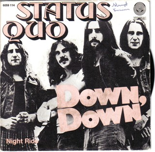 belgisches Cover der Status Quo Single 'Down Down'