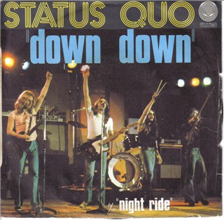 französisches Cover der Status Quo Single 'Down Down'