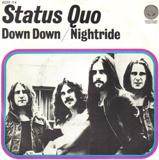 dutch cover of the Status Quo single 'Down Down'