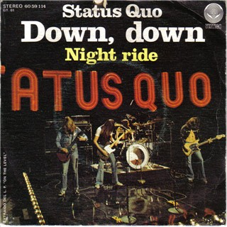 spanisches Cover der Status Quo Single 'Down Down'