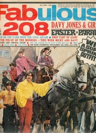 Frontcover of the english teenager magazin Fabulous208 from the year 1968