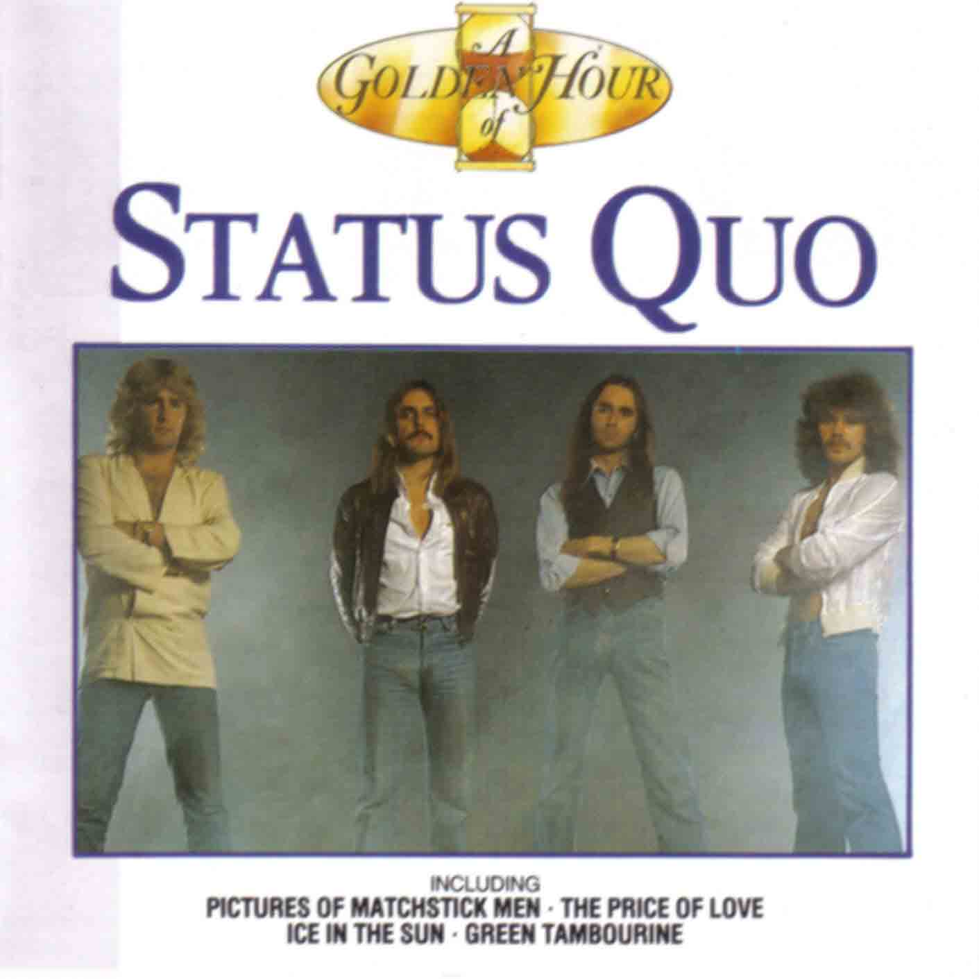 Cover der Status Quo Kompilation 'A Golden Hour of Status Quo' - KGHCD110
