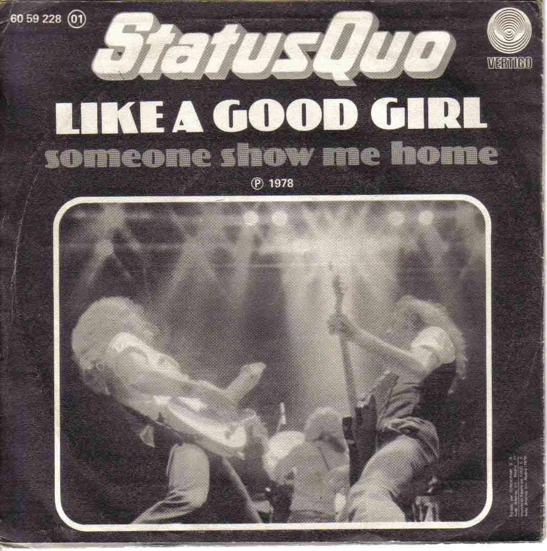 spain Cover of the Status Quo single 'Like a good girl' only released in Spain