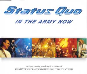 Cover der deutschen Maxi Single 'In the army now 98'
