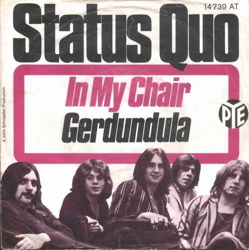 deutsches Cover der Status Quo Single 'In my chair'
