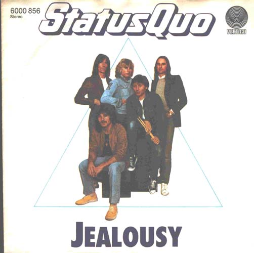 german cover of the Status Quo single 'Jealousy'