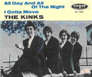 german single cover of the Kinks 'All day and all of the night', 38 years later covered by Status Quo