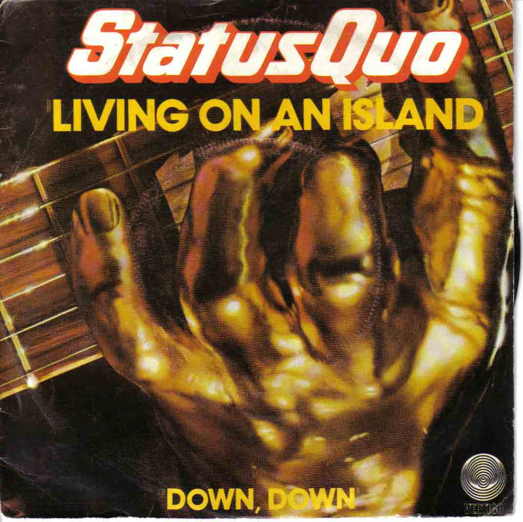 french cover of the Status Quo single 'Living on an island'