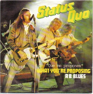 spain cover of the Status Quo single 'What you're proposing'