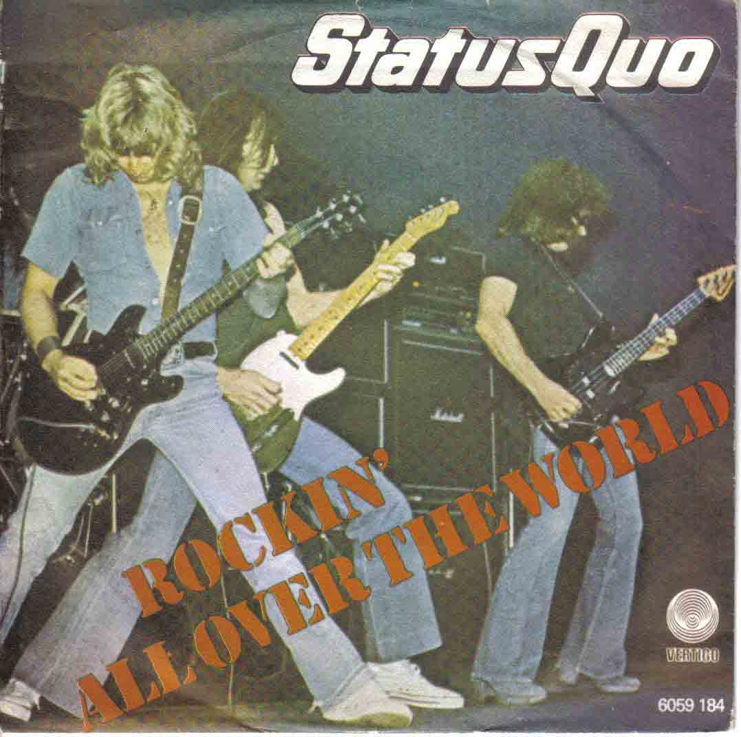 jugoslawian cover of the Status Quo single 'Rockin all over the world'