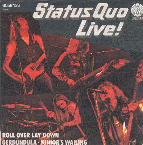 deutsches Cover der Status Quo EP 'Roll over lay down'