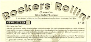 sample of the first Rockers Rollin Newsletter from Michael and Franz Engels/Kaiserslautern