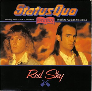 Cover of the doublepack-single 'Red Sky' with gatefold-sleeve.
