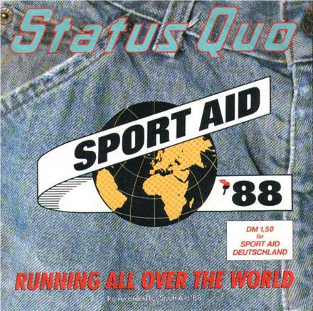 Cover of the Status Quo Single 'Running all over the world'