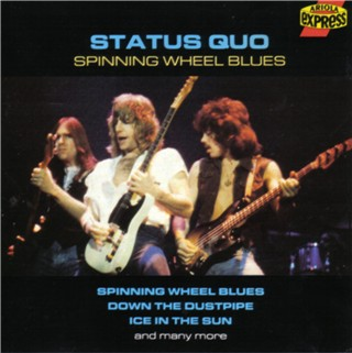 CD-Cover der Status Quo Kompilation 'Spinning Wheel Blues'