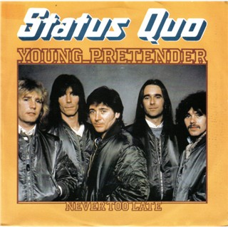 cover of the dutch Status Quo single 'Young Pretender'