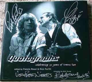 Status Quo picture book 'Qutographs'